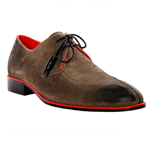 Castillo Genuine Leather Kore Grey Suede Shoes