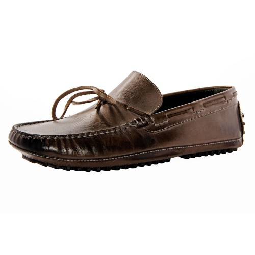 Castillo Genuine Leather Smokey Brown Shoes