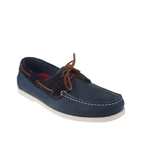 Castillo Genuine Leather Junipar Blue Suede Shoes