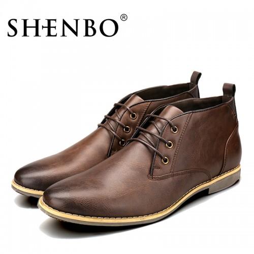 Brand Fashion PU Leather Men Boots Popular Fshion Men Chukka Boots