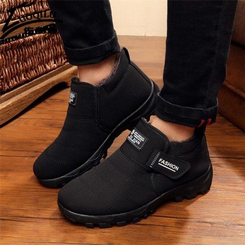 Brand Men Winter Boots Fur Snow Boots Mens Winter Shoes Ankle Boots For Mens