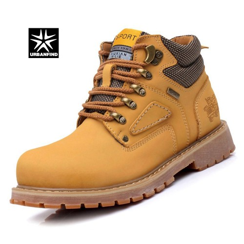 Lace Up Men Fashion Boots Durable Rubber Sole Man Nubuck Leather Ankle