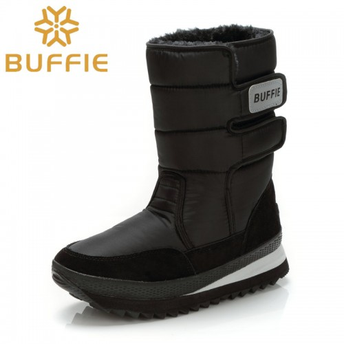 Men boots winter shoes snow boot large big to black basic boy Brand