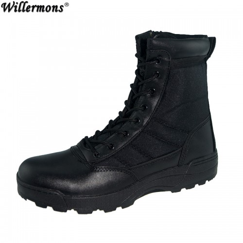 Outdoor Army Boots Men s Military Desert Shoes Autumn Breathable Combat Ankle Boots