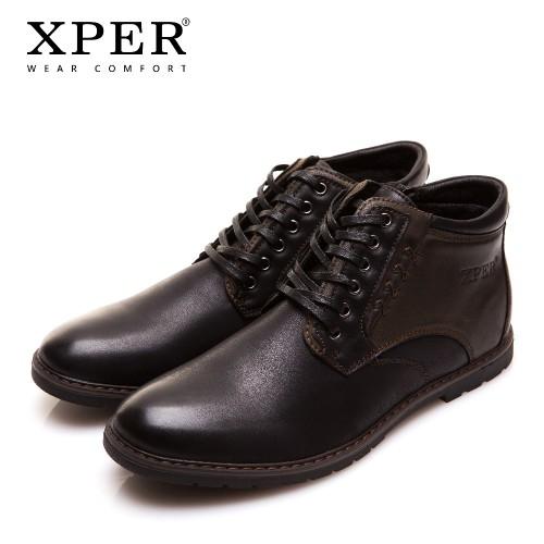 XPER Brand Autumn Winter Men Shoes Boots High Cut Lace up Warm Hombre
