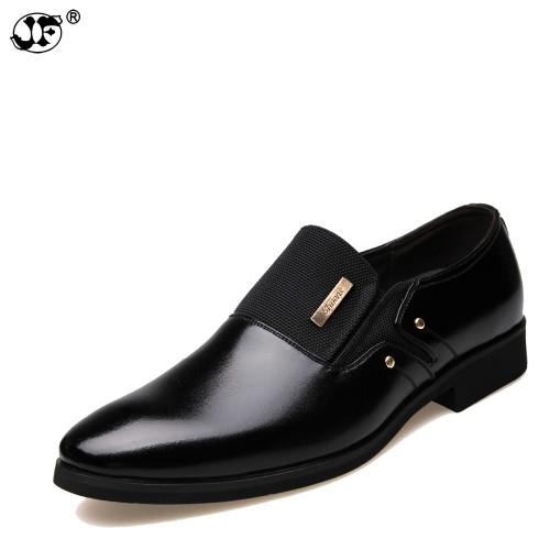 Men Dress Shoes Slip on Black Oxford Shoes For Men Flats Leather Fashion Men Shoes Breathable
