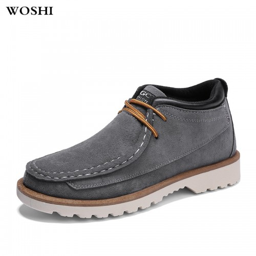 autumn Breathable Men Oxford Shoes Casual Suede cow Leather Shoes fashion Men Flats Low Top Mens