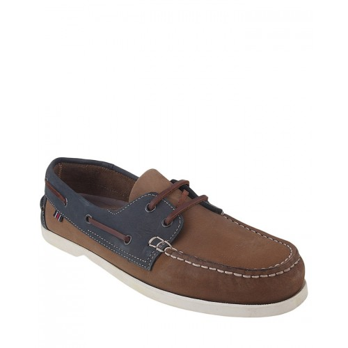 Castillo Genuine Leather Junipar Blue and Camel Shoes