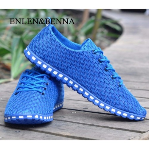 GOXPACER Spring And Autumn New Light Men Shoes Men Flats Network Gauze Breathable Casual Shoes Flats