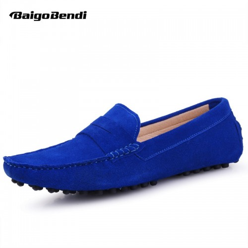 Genuine Leather Comfort SLIP ON Penny Loafers Men Car Shoes Moccasins Fashion Boat Shoes