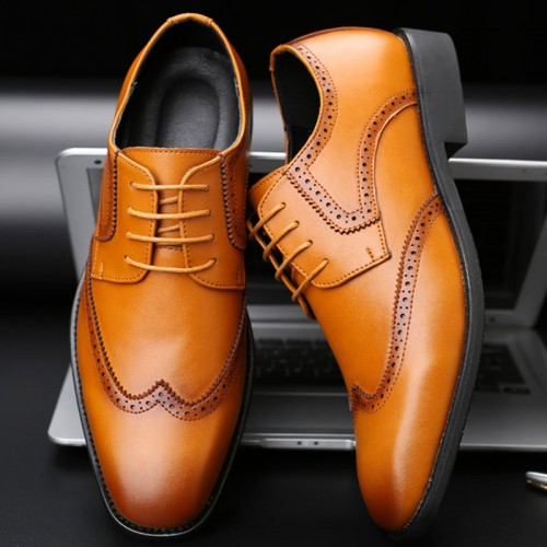 Men Casual Natural Leather Loafers Formal Oxford Business Classic Dress Wedding Shoes Male Breathable Shoes Plus