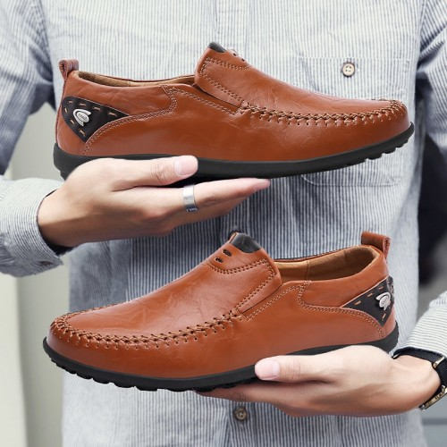 New Breathable Brand Loafers Men Leather Casual Shoes Summer High Quality Adult Slip on Moccasins Men