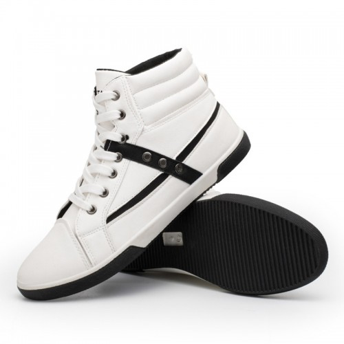 Spring Men Shoes Trainers Leather Fashion Casual High Top Sport Walking Lace Up Ankle Boots
