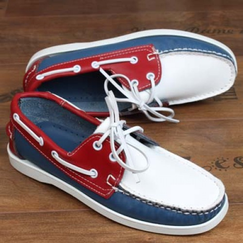 Spring Summer Men s Retro Style Handmade Leather Casaul Shoes Flat Lace Up Couple Driver s