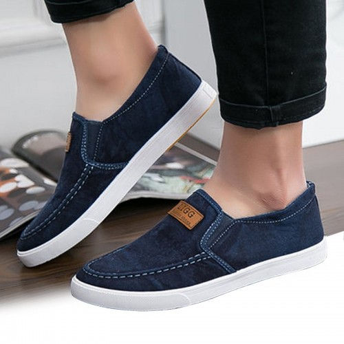 Summer Canvas Shoes Men Sneakers Casual Flats Slip On Loafers Moccasins Male Shoes Adult Denim Breathable