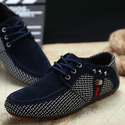 Summer Men Casual Shoes Fashion Driving Shoes Male Flats Lace Up Loafers