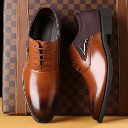 TOURSH Luxury Brand Mens Wedding Dress Shoes Elegant Gentle Business Shoes