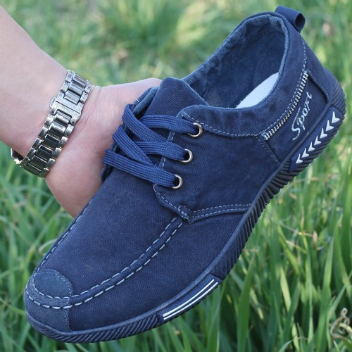 spring and autumn men s canvas shoes flat shoes non leather casual shoes