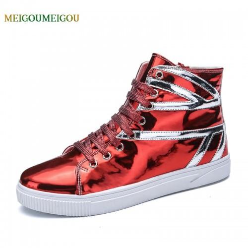 MEIGOUMEIGOU New Arrival Cool Men Vulcanize Shoes High Quality Round Toe Casual Shoes Men Lace up