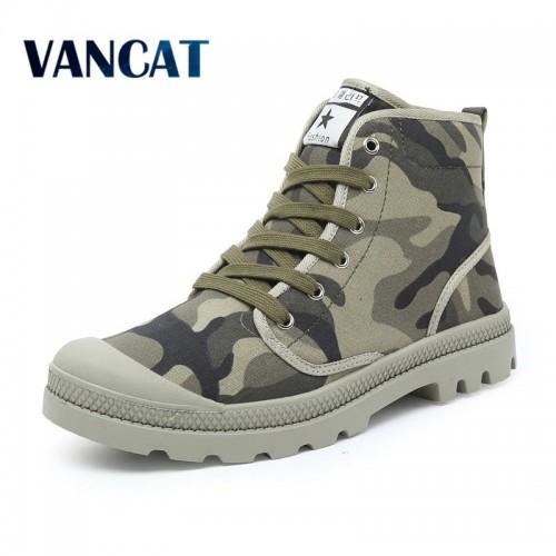 Men Casual Shoes Ankle Military Canvas Shoes Tactical Combat Lace Up Spring Autumn Men shoes Zapatillas