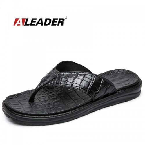 Aleader New Extremely Soft Flip Flops Men Sandals Beach Shoes For Men High Quality Eva