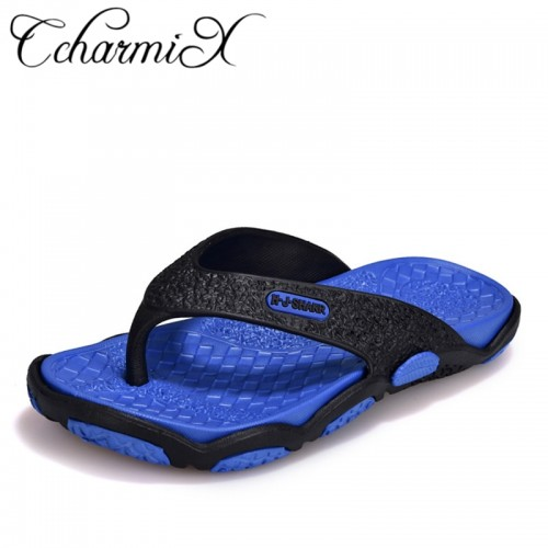 CcharmiX Mens Flip Flops Summer Men s New Style Rubber Soft Shoes Outdoor Beach Men s