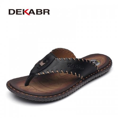 DEKABR New Arrival Summer Men Flip Flops High Quality Beach Sandals Non slip Male Slippers Zapatos