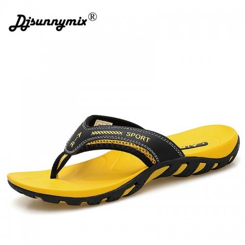 DJSUNNYMIX Men s Summer Slippers Shoes Casual Outdoor Beach Flip Flops For Men Rubber sole