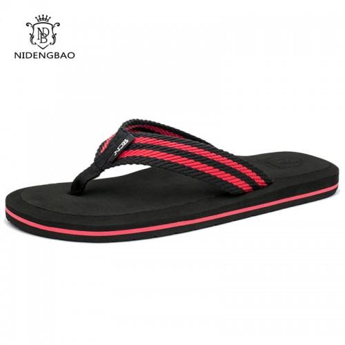 NEEDBO Flip Flops Men Summer Cool Platform Sandals Men Beach Shoes Comfortable Slippers Sandals Flat