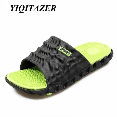 New Summer Cool Water Flip Flops Men High quality Soft Massage Beach Slippers Fashion