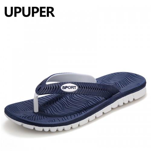 UPUPER Summer Men Flip Flops Male Mixed Color Slippers Men Casual PVC EVA Shoes Summer Fashion