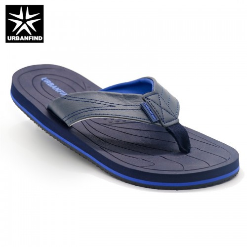 URBANFIND Leather Band Men Casual Slippers Brand Fashion Flip Flops Man Summer Shoes