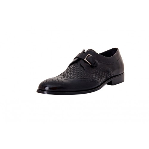 Castillo Genuine Leather RH Pez Black Shoes