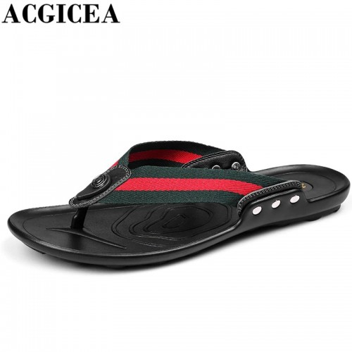 ACGICEA Summer Fashion Men Slippers Men s Non slip Breathable Cool Light Casual Flip Flops
