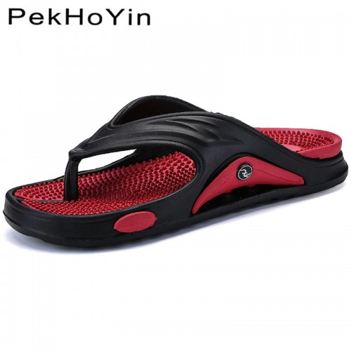 Big Size Fashion Massage Men Slipper Shoes Summer Water Male Sandals High Quality Flat Beach