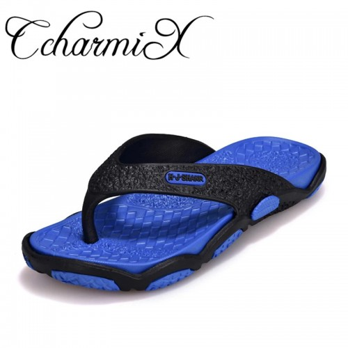 CcharmiX Mens Flip Flops Summer Men s New Style Rubber Soft Shoes Outdoor Beach Men s