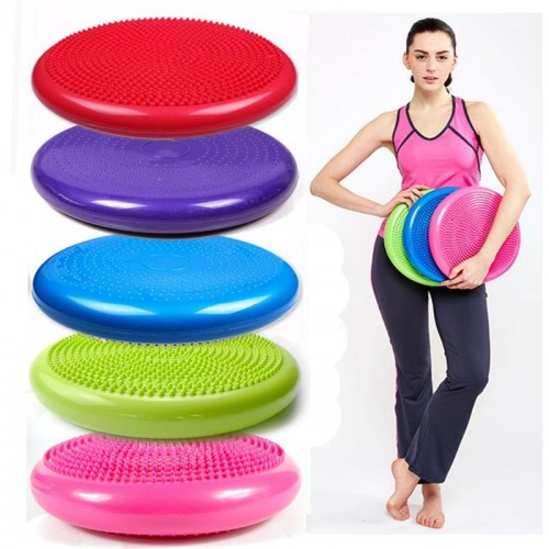 Yoga Balls Massage Pad Wheel Stability Balance Disc Cushion Fitness Exercise Training ball