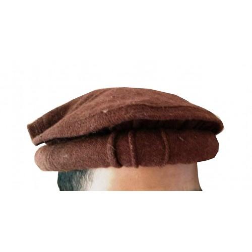 100% Woolen Handmade Chitrali Cap / Afghani Pakol / Hat