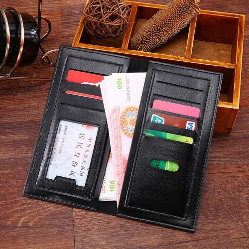 Luxury Men Ultra-Thin Long Wallet Multi-Card Male Clutch Coin Purse Concise Money Bag