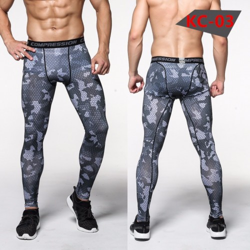 Mens Compression Tights Pants Clothing Trousers High Elastic Sweatpants