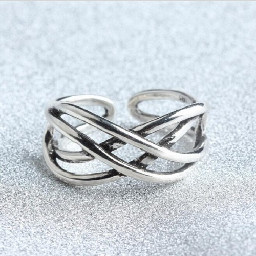 Retro 925 sterling silver rings for man woman Compatible Thailand charm Jewelry