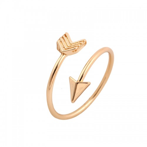 Shuangshuo 2017 Fashion New Arrival Gold Ring Vintage Jewelry Ring Adjustable Brass Small Arrow Rings for