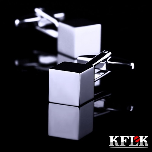 KFLK Jewelry French shirt Fashion cufflinks for mens Brand Silver Cuff links Button Gift High Quality