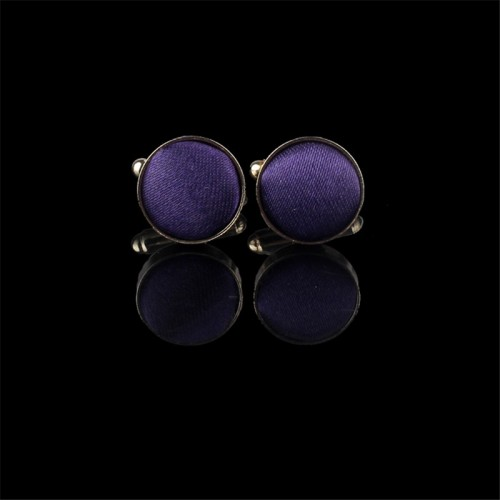 snowshine YLW 1Pair Mens Dress Round Cloth Cufflinks For Business Shirt Wedding Party