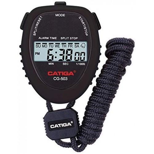 CATIGA Digital Stopwatch Lap Timer And Daily Alarm Black