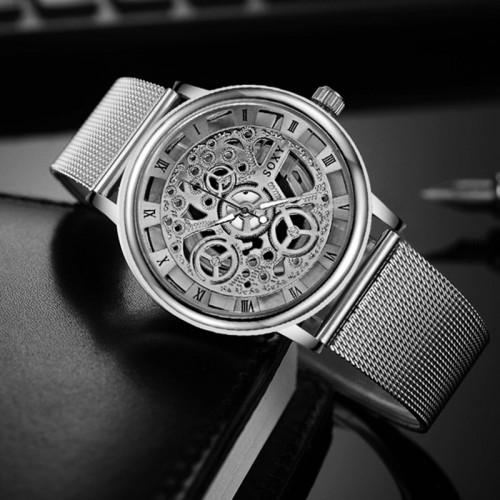 Fashion SOXY Watch Silver Golden Luxury Hollow Steel Watches Men Women Unisex Hombre Quartz Wrist watch