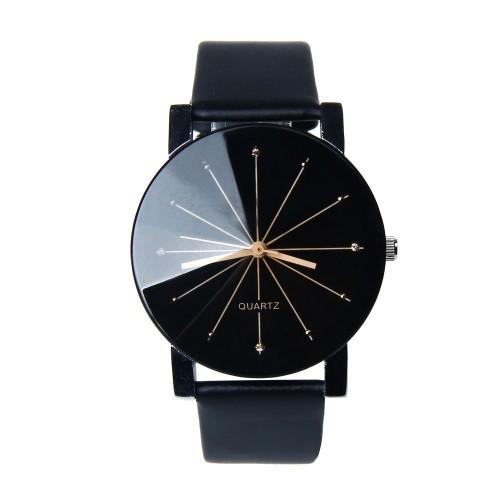 New Listing Geneva Men Watch Fashion Male Quartz Watch Round Dial Clock Casual Leather WristWatch Cheap