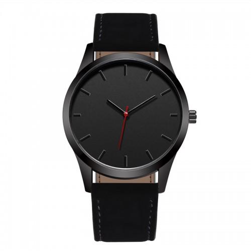 Reloj Fashion Large Dial Military Quartz Men Watch Leather Sport watches High Quality Clock Wristwatch