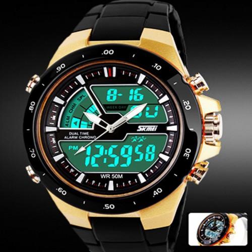Skmei Men Sport Watch Relogio Masculino Waterproof Silicone quartz watch Clock Male S Shock Military Casual