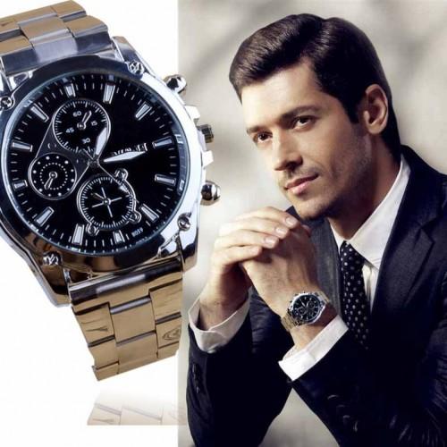 Splendid Fashion Business Men Shock Resistant Stainless Steel Band Machinery Sport Reloj Analog Quartz Luxury Men